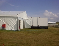 Portable kitchen hire Standard Kitchen linked to marquee
